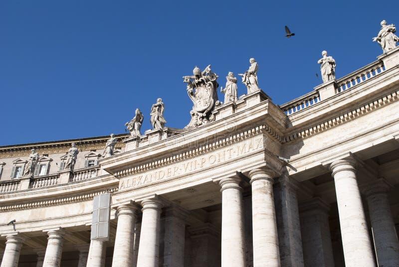 Palastgebäude von Vatican stockbilder
