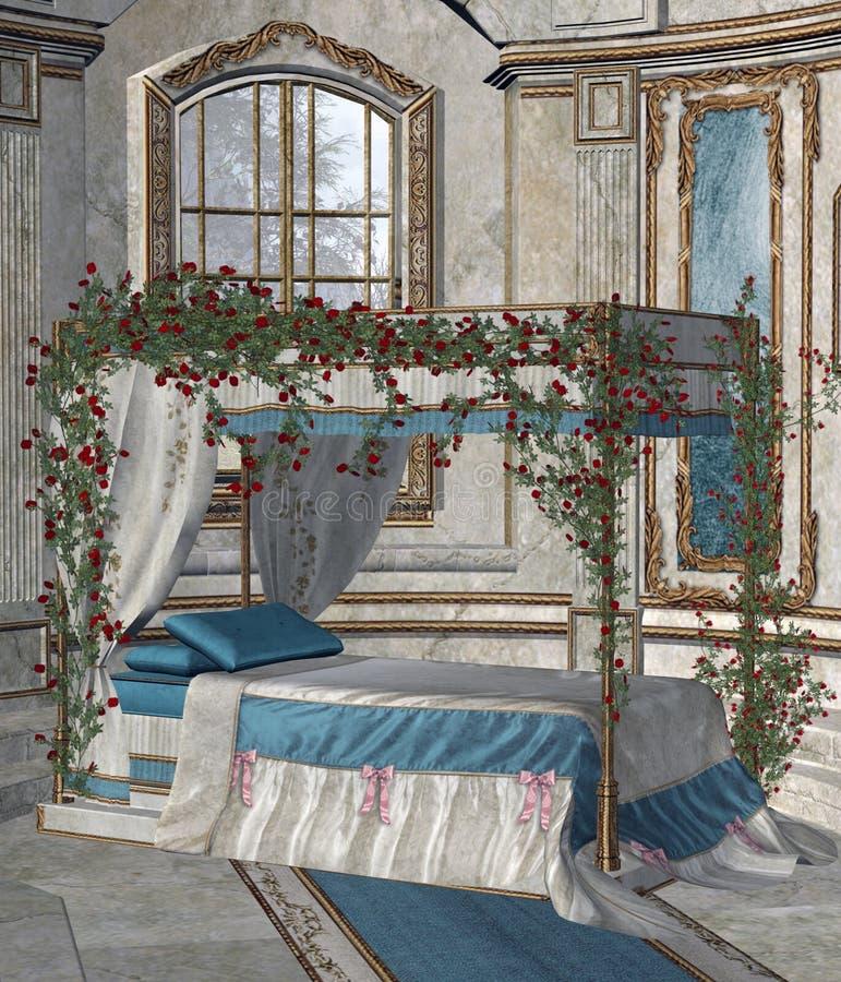 Palastschlafzimmer 2 lizenzfreie abbildung