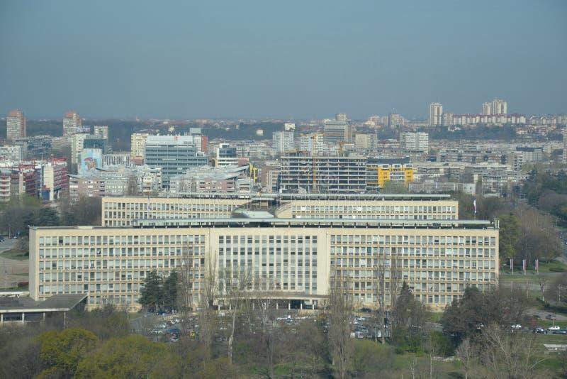 Palata Srbija comme vu de la tour d'Usce image libre de droits