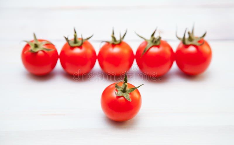 Palatable fresh tomatoes stock image
