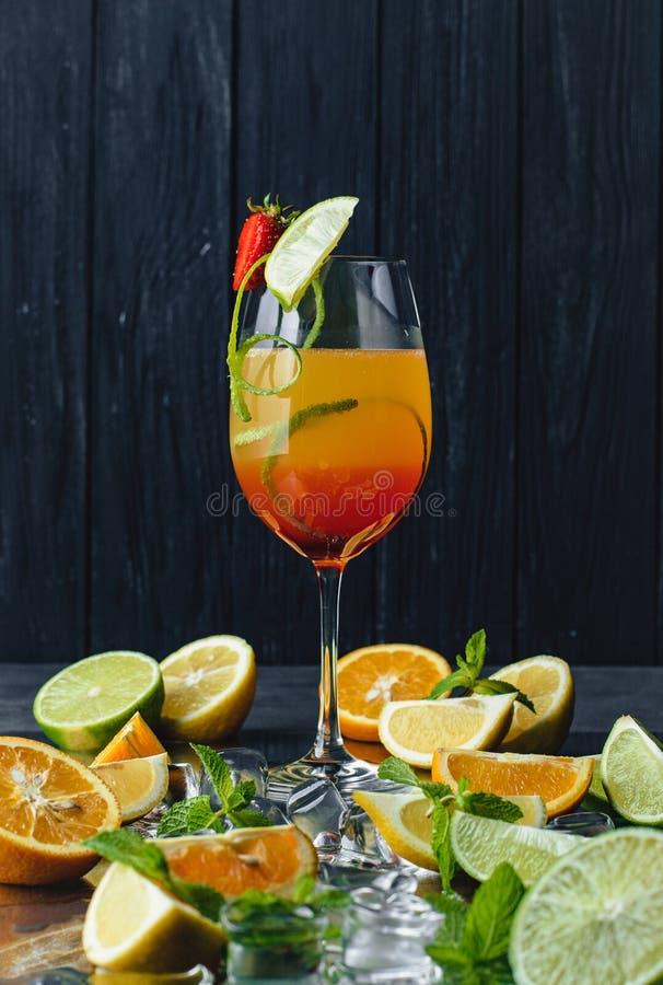 Palatable Tequila Sunrise royalty free stock photos