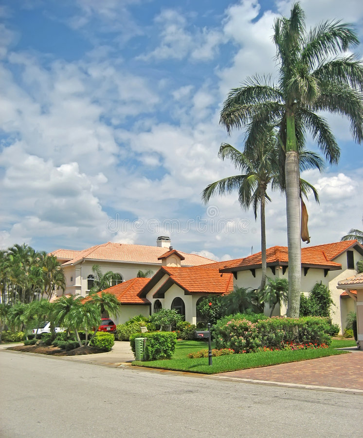 Palatial Tropical Homes 1 royalty free stock images