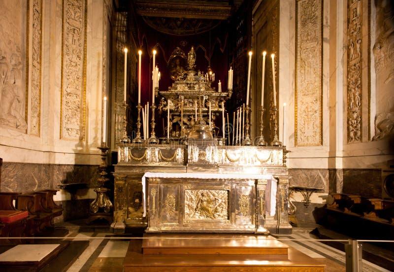 Palatina Chapel, 12o C Norman Palace, Palermo fotos de stock royalty free