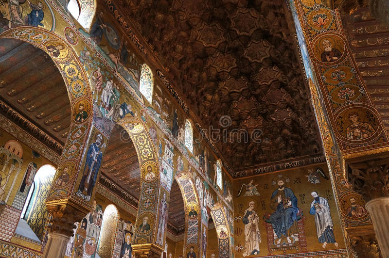 The Palatine Chapel of Palermo in Sicily stock image
