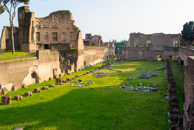 Palatine-Hügelruinen, Rom, Italien lizenzfreie stockfotografie