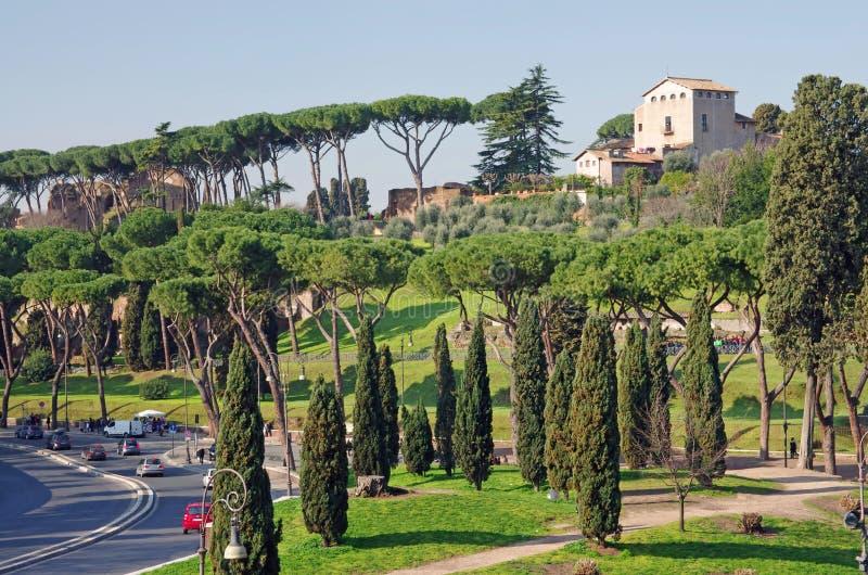 Palatine heuvel in Rome royalty-vrije stock foto's