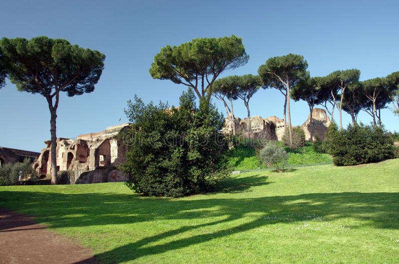 Palatine hill. In Rome, Italy stock image