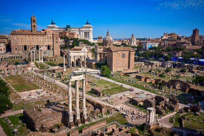 Palatine Hill Rom Italien lizenzfreie stockfotos