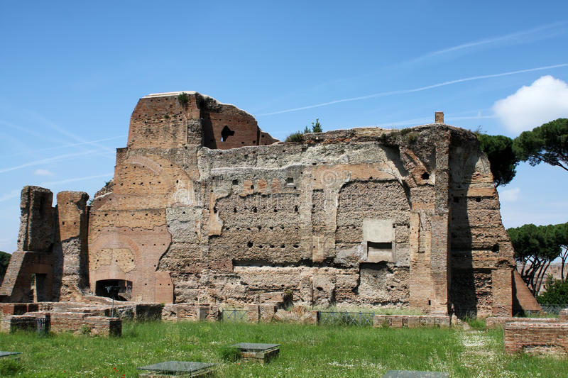 Palatine hill in Rome royalty free stock image
