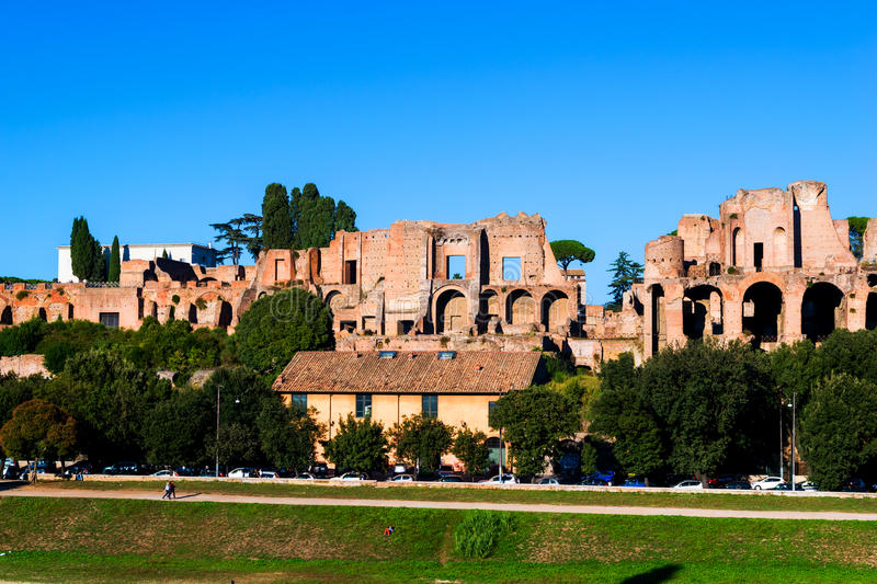 Palatine Hill in Rome Italy.  royalty free stock photography