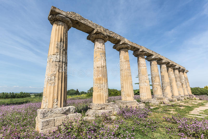 Palatine Tables. Hera Sanctuary in Metaponto, Basilicata, Italy royalty free stock images
