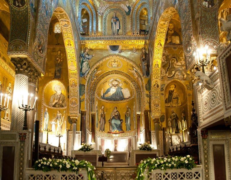 Palatyn kaplica - Palermo, Sicily zdjęcie stock