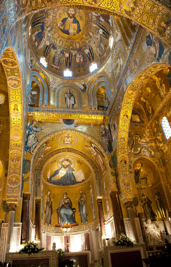 Palatyn kaplica - Palermo, Sicily obrazy stock