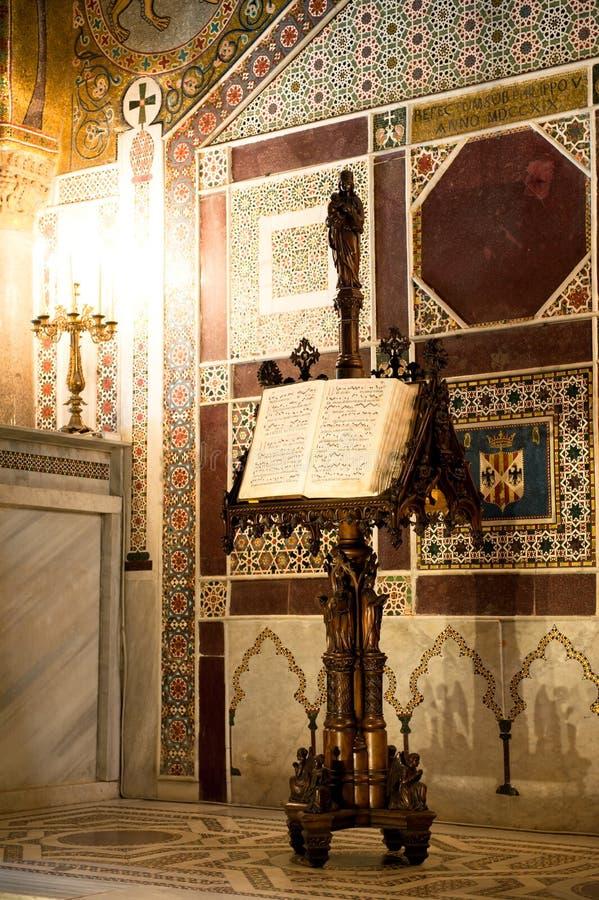 Palatyn kaplica - Palermo, Sicily fotografia stock