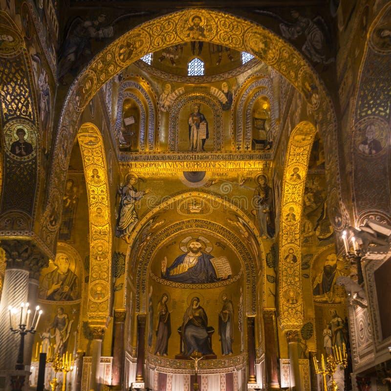 Palatyn kaplica Royal Palace w Palermo obraz stock