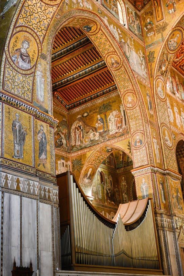 Palatyn kaplicy organowe drymby w Palermo Sicily zdjęcia royalty free
