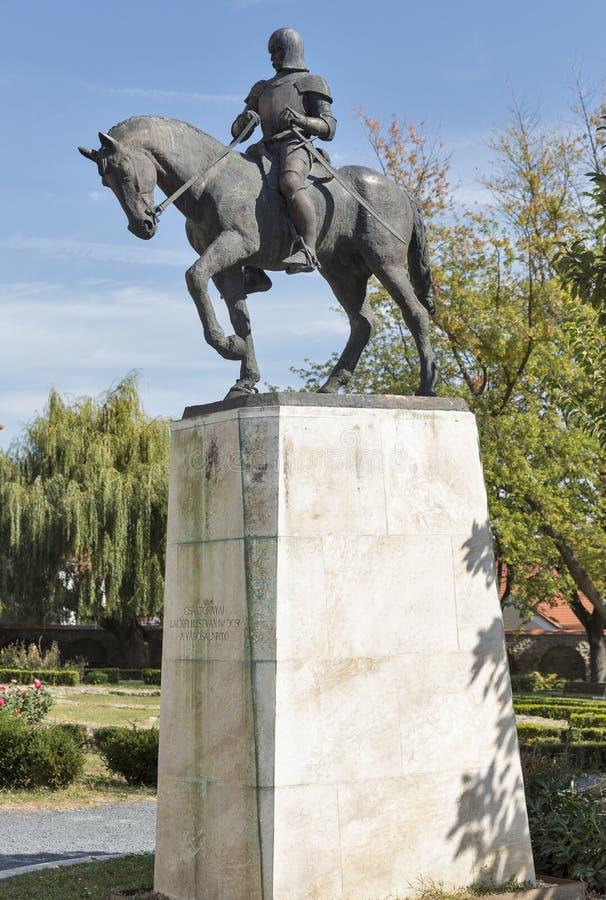 Palatynu Istvan statua w Keszthely, Węgry obrazy stock