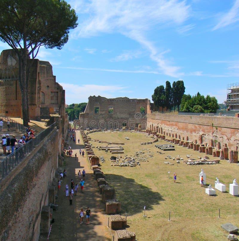 Palatynu wzgórze i rzymski forum w Rzym obraz royalty free