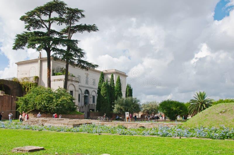 Palatynu wzgórze w Rzym zdjęcia royalty free