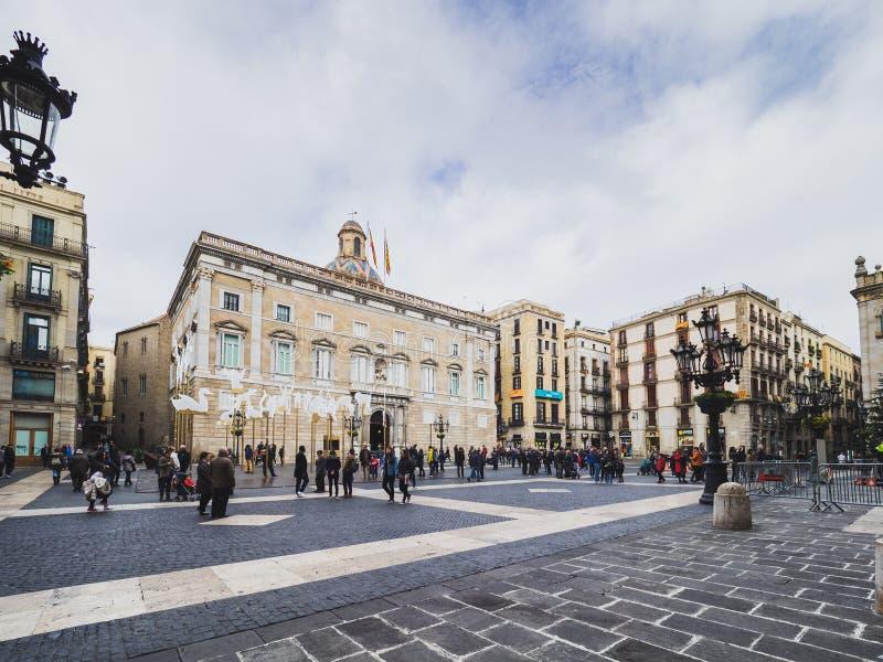 Palau de la Generalitat fotografia stock libera da diritti