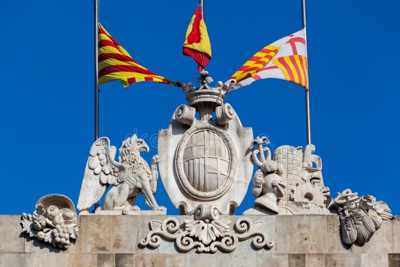 Palau de La Generalitat Barcelona royaltyfria foton