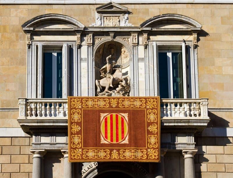 Palau de la Generalitat de Catalunya stockbild