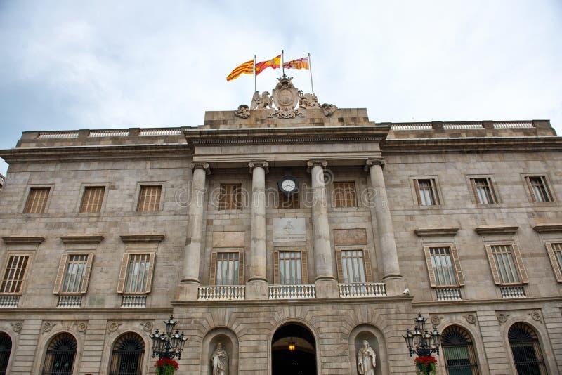 Palau de la Generalitat de Catalunya em Barcelona fotografia de stock royalty free