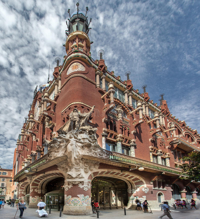 Palau DE La Musica Catalana royalty-vrije stock fotografie