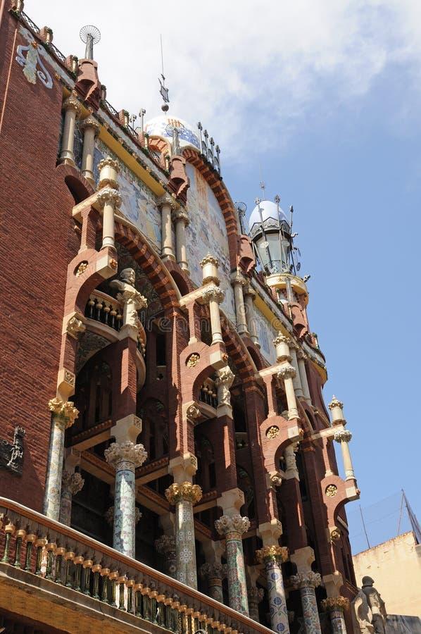 Palau de la Musica Catalana Barcelona fotografia de stock