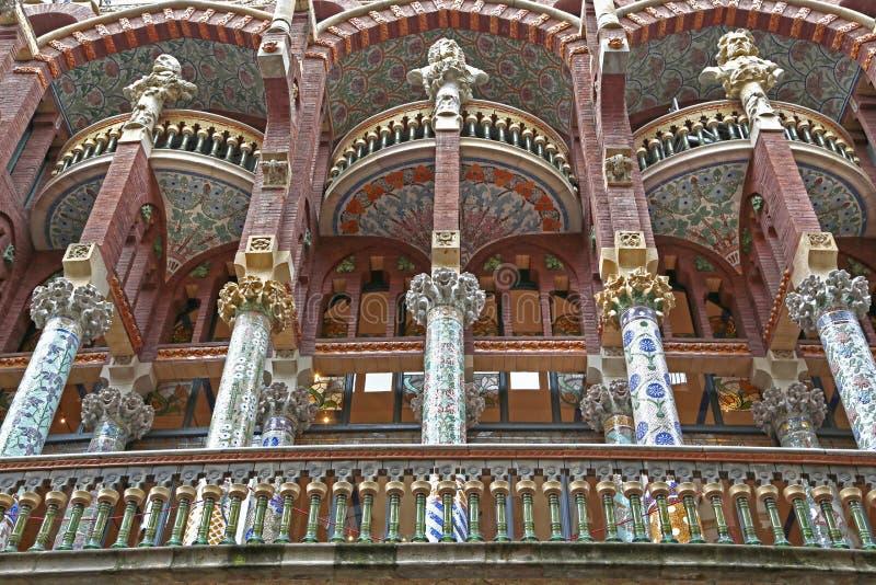 Palau de la Musica Catalana, quarto di Ribera, Barcellona, Spagna fotografia stock