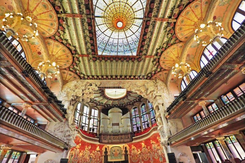 Palau De Los angeles Musica Catalana, Barcelona, Hiszpania, Europa zdjęcie royalty free