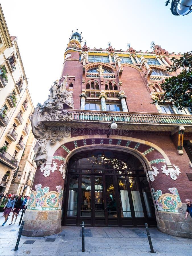 Palau De Los angeles Musica Catalana filharmonia obraz royalty free