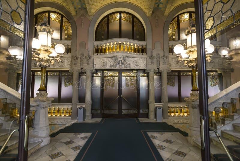 Palau De Los angeles Musica Catalana jest filharmonią, budującym architektem Lluis Domenech mnie Montaner, Barcelona, Hiszpania zdjęcie royalty free