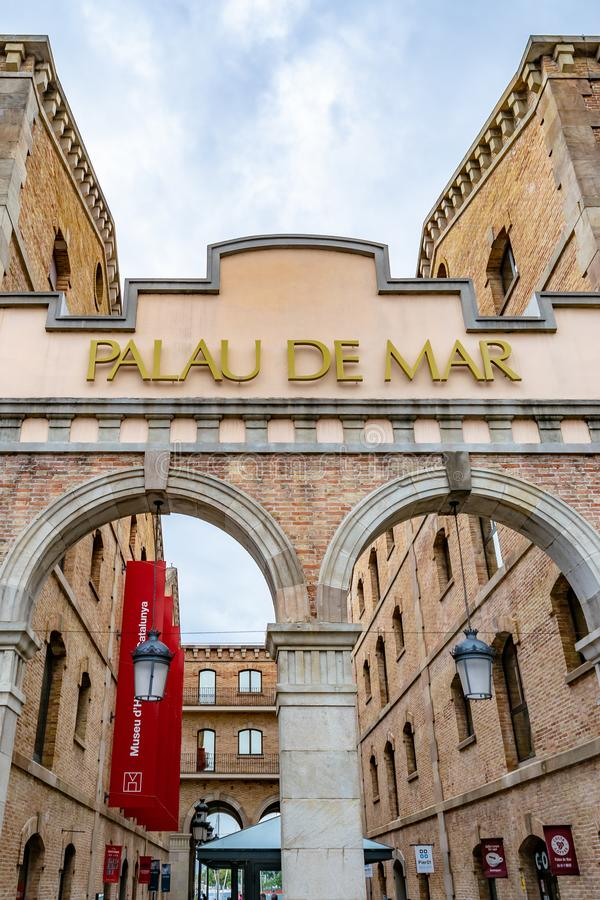 The Palau de Mar, a historical 19th century building located in Barcelona Port, Spain. The Palau de Mar, a historical 19th century building located in Barcelona royalty free stock photography