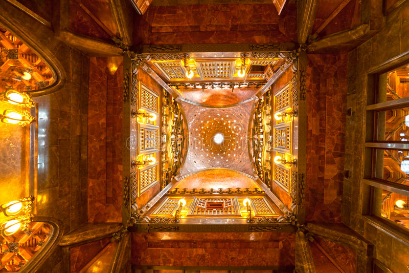 Palau Guell, barcelona, Spain. stock image