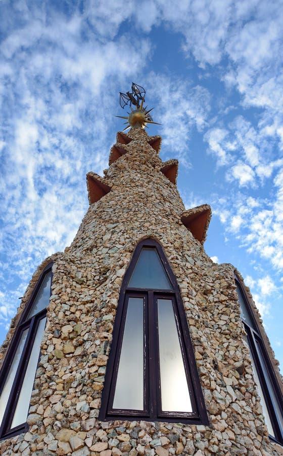Palau Guell - dach zdjęcie royalty free