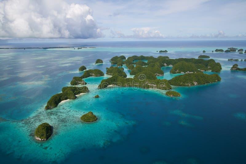 Palau islands top view stock photos