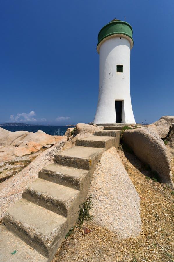 Palau latarnia morska w Sardinia, Włochy obraz stock