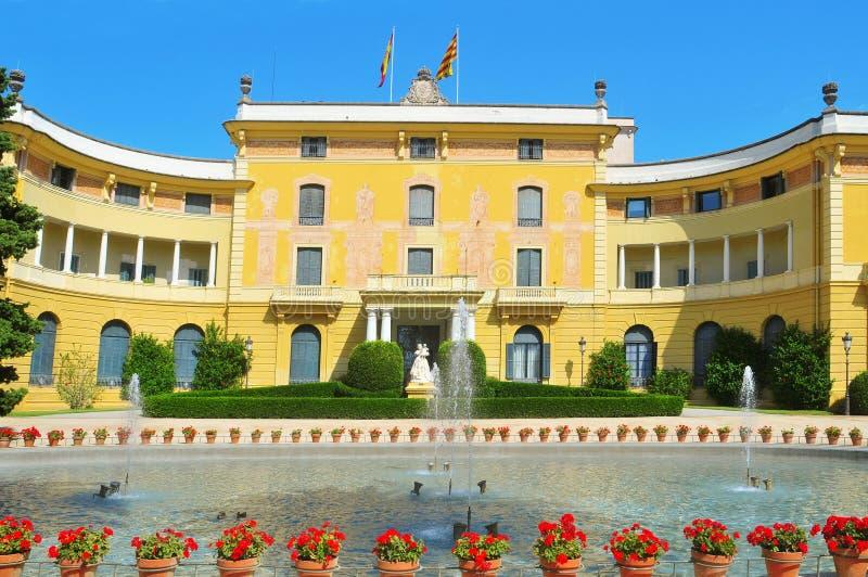 Palau Reial de Pedralbes en Barcelona, España fotos de archivo