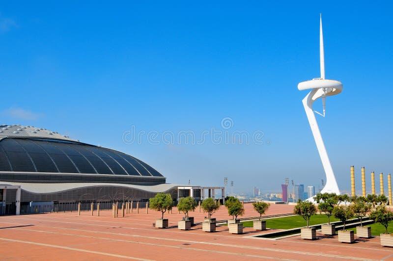 Download Palau Sant Jordi Arena And Montjuic  Tower Bar Editorial Stock Image - Image: 18156034