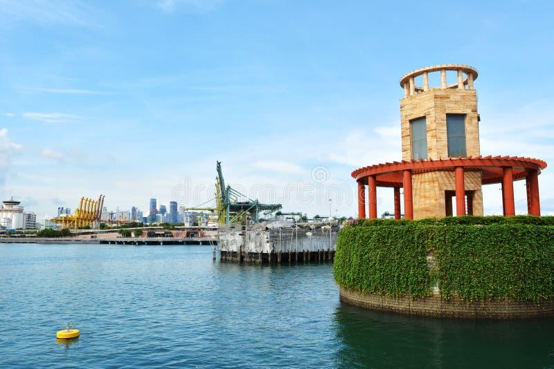 Palau Selegu Singapore blisko S e Akwarium zdjęcia royalty free