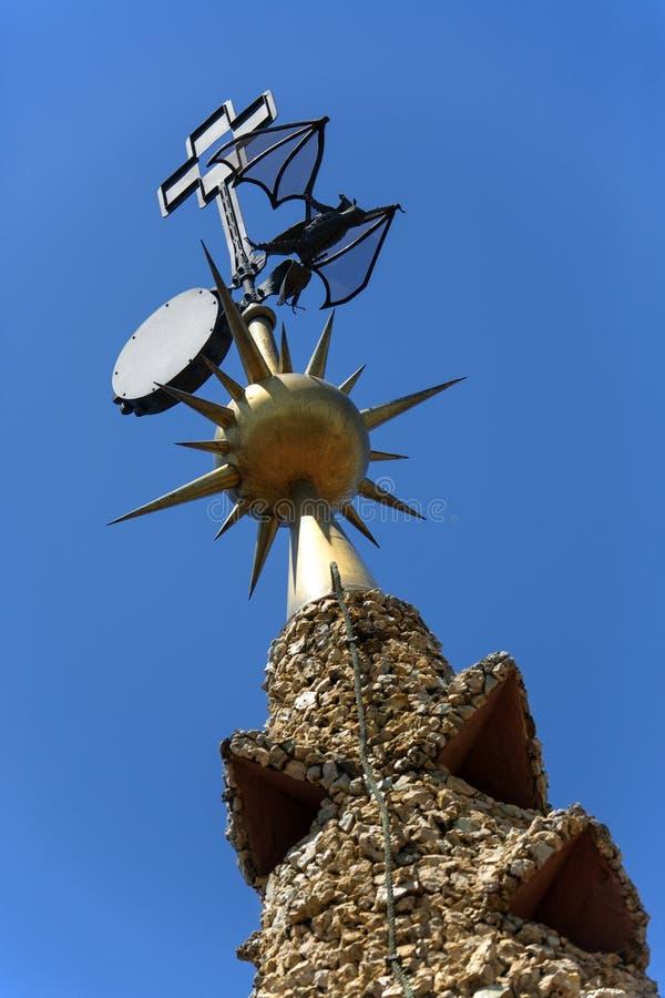 Palauiska Guell - Barcelona - Spanien royaltyfria foton