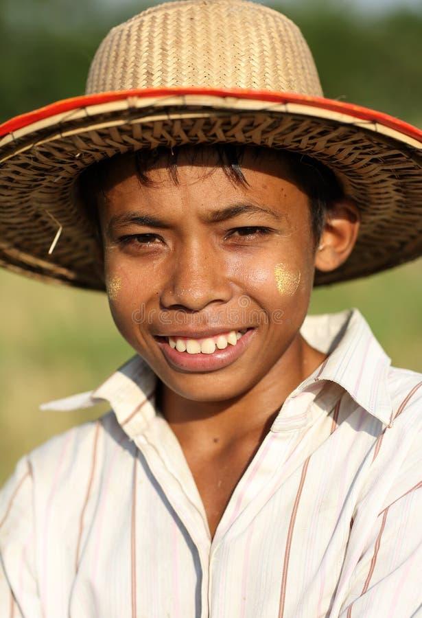 年轻Palaung人, Hsipaw,缅甸 库存照片