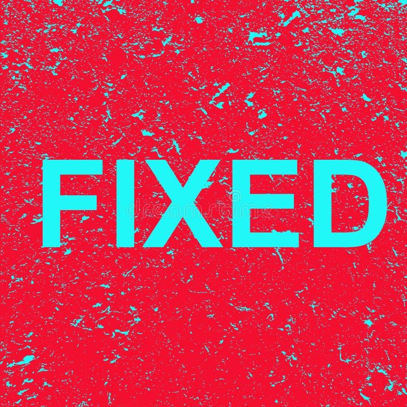 A palavra é fixada em um fundo do grunge Bandeira vermelha com texto fixo azul Ilustra??o ilustração stock