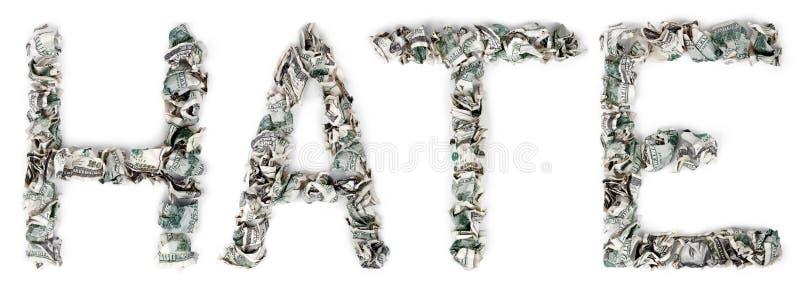 Ódio - Contas 100$ Frisadas Imagens de Stock Royalty Free