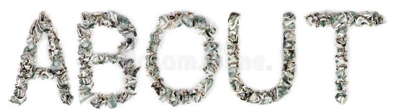 Sobre - As Contas 100$ Frisadas Imagem de Stock