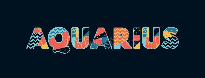 Palavra Art Illustration do conceito do Aquário ilustração royalty free