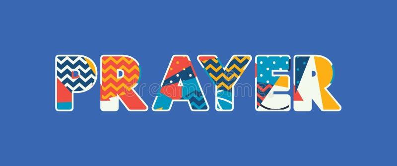 Palavra Art Illustration do conceito da oração ilustração royalty free