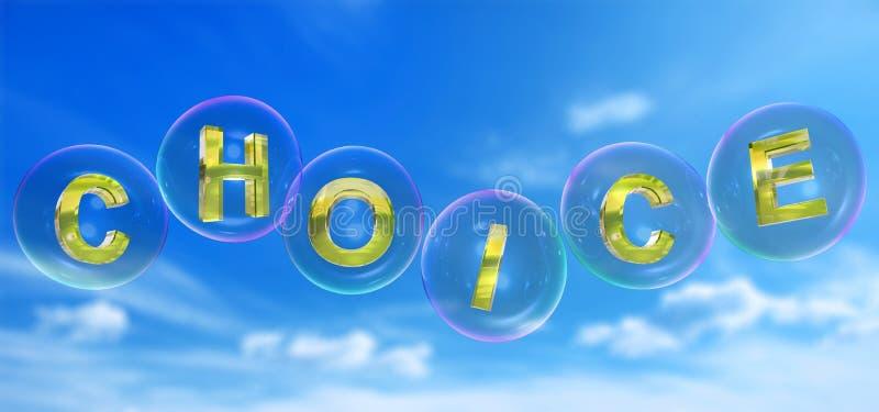 A palavra bem escolhida na bolha ilustração do vetor