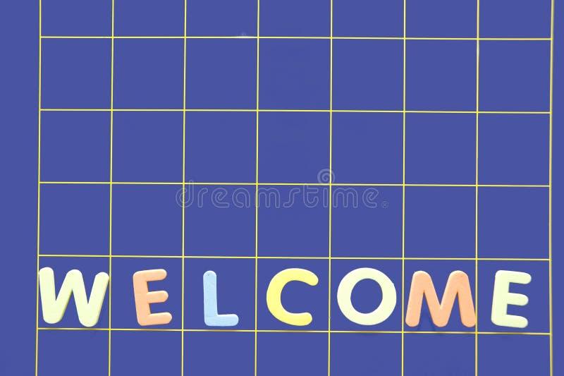 Palavra bem-vinda fotos de stock